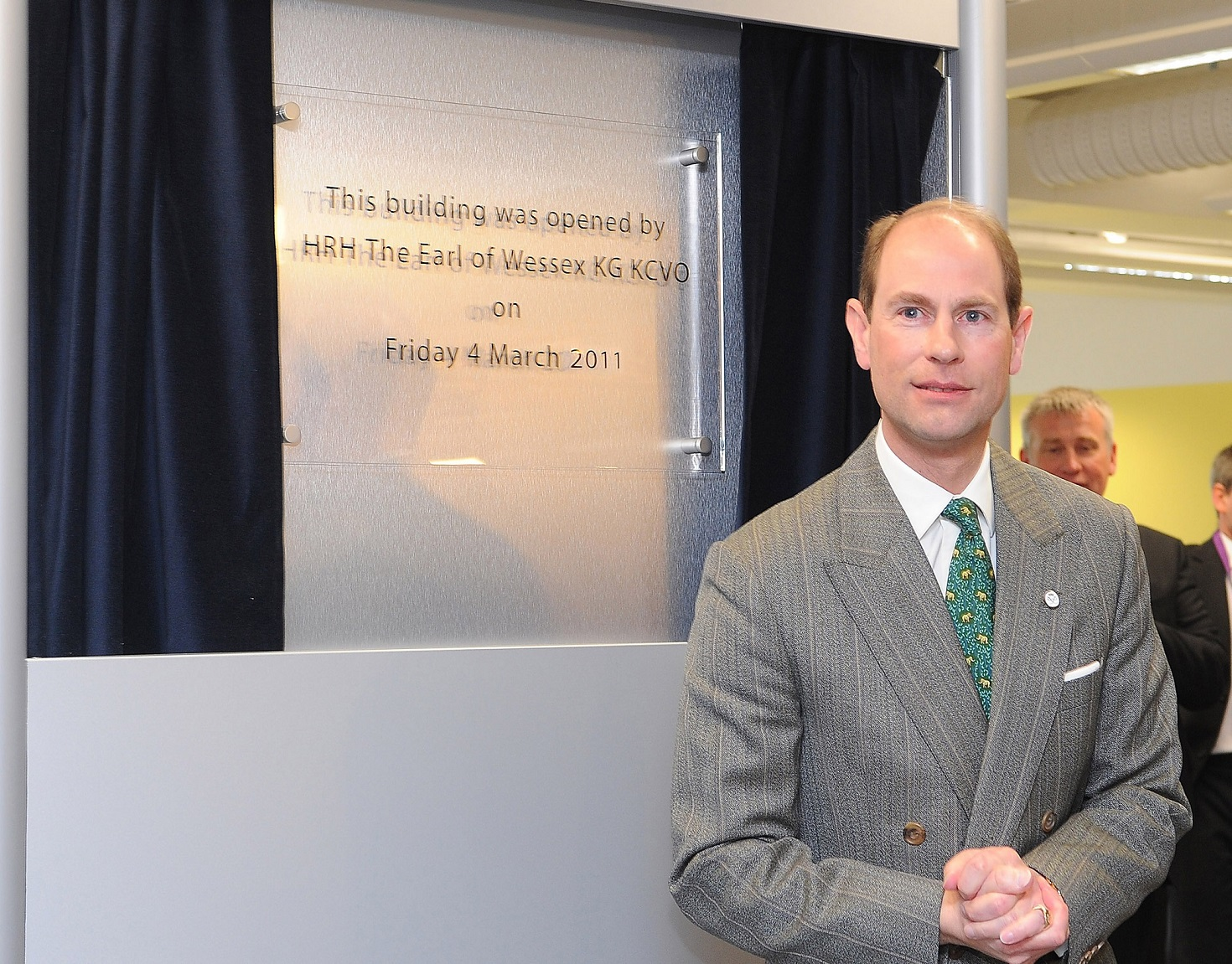 Earl of Wessex opens the Refurbished Library